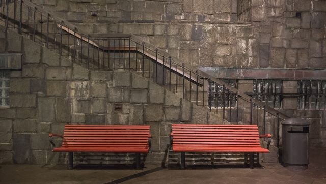 © Pedro Hansson – Parkbenches - After Rain, Evening Light – Stockholm – Sony RX-100