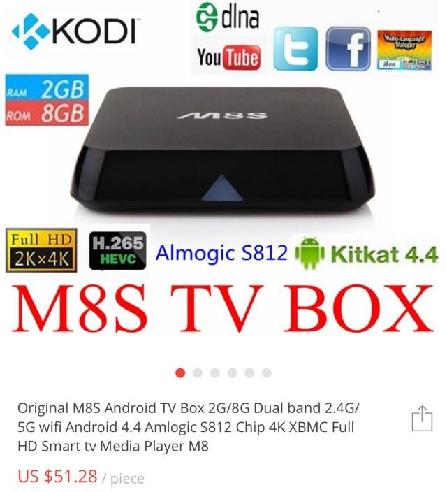 M8S TV Box Description