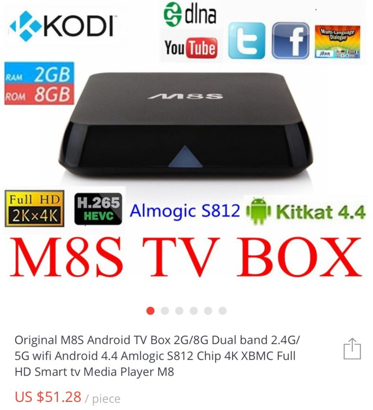 M8S TV Box Description